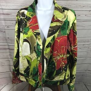 Chico's Green Light Jacket/Blazer Size 12 Large